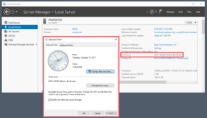การตั้งค่าวัน เวลา บน Windows 2016 แบบกราฟฟิค