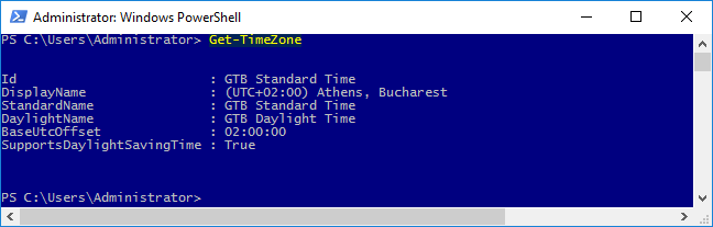 การตั้งค่าวัน เวลา บน Windows 2016 ด้วย Power Shell